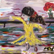 Practice Modern Dance Print by Mary Carol Williams