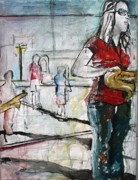 Trombone Paintings - Practice by Molly Markow