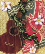 Hawaiiana Framed Prints - Practice My Uke Framed Print by Sandra Blazel - Printscapes