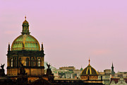Domes Prints - Prague - A living fairytale Print by Christine Till