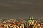 Roofline Prints - Prague - A symphony in stone Print by Christine Till