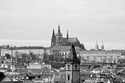 High Angle View Posters - Prague - City of a Hundred Spires Poster by Christine Till