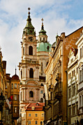 Prague Towers Prints - Prague - St. Nicholas Church Lesser Town Print by Christine Till