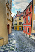 Cityspace Photos - Prague alleyway by Michal Boubin