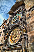 Astronomical Clock Acrylic Prints - Prague Astronomical Clock Acrylic Print by Jon Berghoff