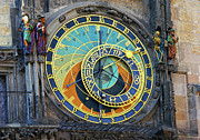 Zodiac Ring Prints - Prague Astronomical Clock Print by Mariola Bitner