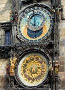 Roberto Alamino Prints - Prague Astronomical Clock Print by Roberto Alamino