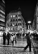 Prague Photo Posters - Prague At Night Poster by Stylianos Kleanthous