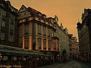 Maggie Vlazny Prints - Prague at Twilight Print by Maggie Vlazny