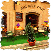 Czech Republic Digital Art Prints - prague Cafe Print by Martin  Fry