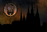 Mystery Digital Art - Prague casle - Cathedral of St Vitus - monuments of mysterious c by Michal Boubin