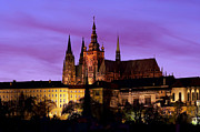 Prague Castle Framed Prints - Prague castle at evening Framed Print by Michal Boubin
