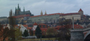 Prague Castle Digital Art Metal Prints - Prague Castle in Prague Czech Republic Metal Print by Paul Pobiak