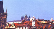 Prague Digital Art Framed Prints - Prague Castle Framed Print by Steve Huang