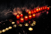 Indoor Still Life Photos - Prague Church Candles by Stylianos Kleanthous