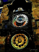 Prague Digital Art - Prague Clock by Joan  Minchak