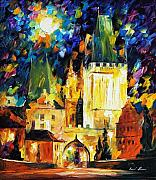 Building Painting Originals - Prague by Leonid Afremov