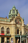 Historical Buildings Photo Posters - Prague Obecni dum - Municipal House Poster by Christine Till