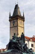 Charles Bridge Prints - Prague Old City Hall Clock Tower Print by Andre Goncalves