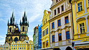 Town Square Framed Prints - Prague Old Town Square Framed Print by Jon Berghoff