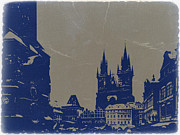 Town Clock Tower Posters - Prague old town square Poster by Irina  March