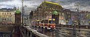 Prague Originals - Prague Tram Legii Bridge National Theatre by Yuriy  Shevchuk