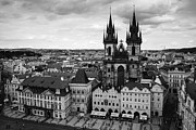 Czech Republik Prints - Prague Tyn church Print by Matthias Hauser