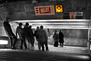 Escalator Metal Prints - Prague Underground Station Stairs Metal Print by Stylianos Kleanthous