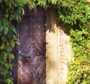 Praha Digital Art Prints - Praha Garden Door Print by Shawn Wallwork