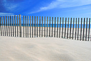 Sand Fences Photos - Praia do Cabeco by Carl Whitfield