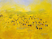 Crowd Paintings - Prairie Gathering by Neil McBride