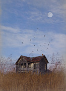 Abandoned  Digital Art - Prairie Home by Ron Jones