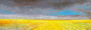 Horizon Pastels Framed Prints - Prairie Horizon number One Framed Print by Gordon Talley