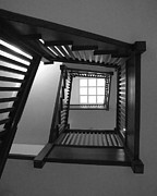 Anna Villarreal Garbis Metal Prints - Prairie House Stairs Metal Print by Anna Villarreal Garbis