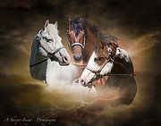 Equine Pyrography Posters - Prairie Kings Poster by Linda Finstad