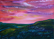 Prairie Sunset Paintings - Prairie Lights by James Bryron Love