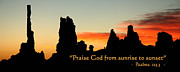 Praise Art - Praise God from Sunrise to Sunset by George Buxbaum