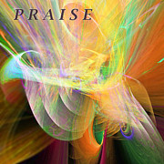 Library Digital Art - Praise by Margie Chapman