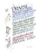 Cymbals Painting Posters - Praise the Lord Poster by Judy Dodds