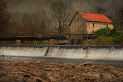 Grist Mills Photos - Prallsville Grist Mill And The Spillway by Pat Abbott