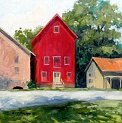 Grist Mill Paintings - Prallsville Mill Summer by Kit Dalton