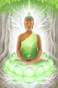 Buddhism Metal Prints - Pranasynthesis Metal Print by George Atherton