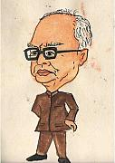 Leader Drawings Originals - Pranav Mukharjee by Tanmay Singh