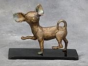 Dog Sculptures - Prancing by Karen  Peterson