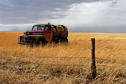 Old Truck Framed Prints - Prarie Truck Framed Print by Peter Tellone