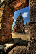 Tourist Digital Art Framed Prints - Prasat Phnom Rung Framed Print by Adrian Evans