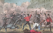 Police Art Art - Pratt Street Riot, 1861 by Photo Researchers