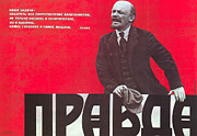 Lenin Framed Prints - Pravda: Communist Poster Framed Print by Granger