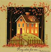 Primitive Painting Framed Prints - Pray also for me... Framed Print by Catherine Holman