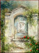 Portofino Italy Artist Paintings - Pray Madonnina by Antonia Varallo